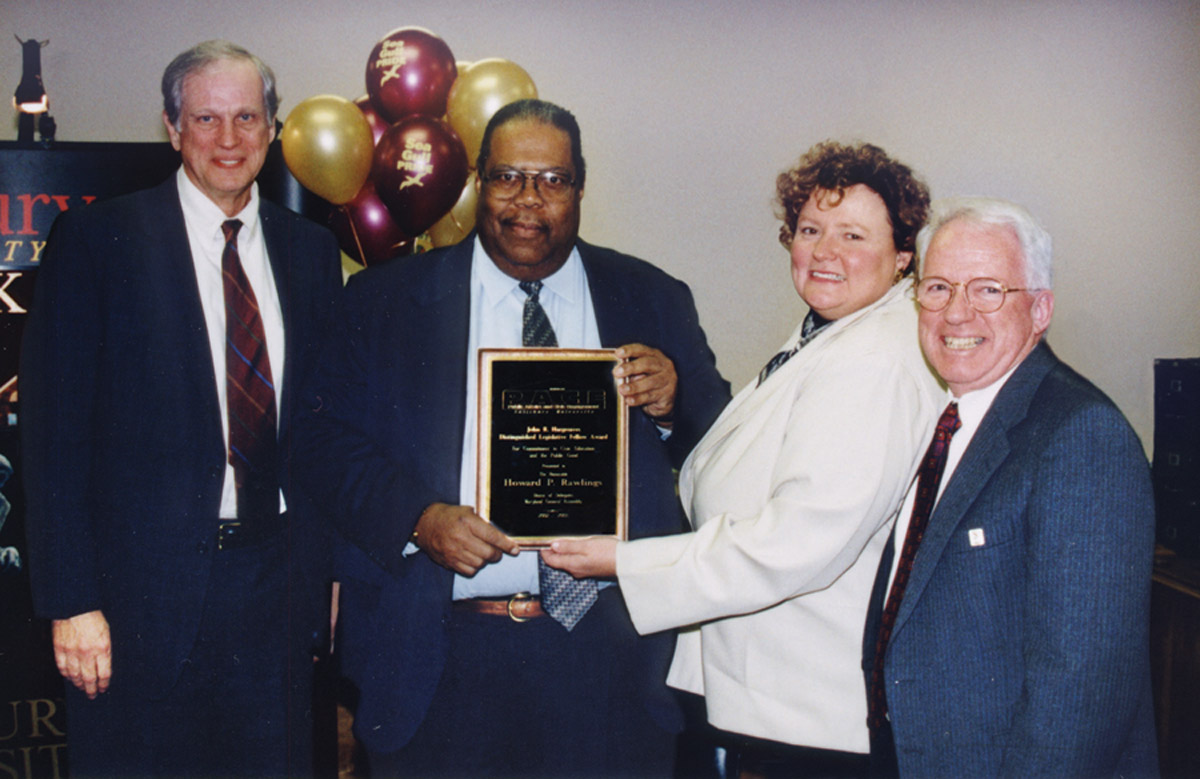 Dr. Basehart, Del. Rawlings, SU President Dudley-Eshbach and Dr. Kane