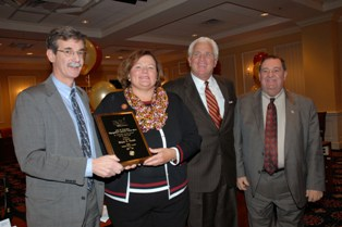 Senator Brian E. Frosh accepts John R. Hardgreaves Distinguished Legislative Fellow Award