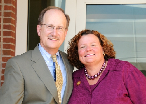 Rick Givens with SU President Janet Dudley-Eshbach