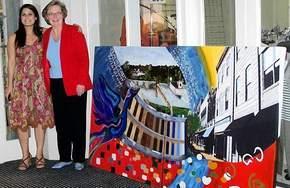 Melissa Zarou with Mayor Barrie Parsons Tilghman