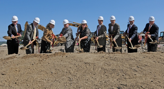 breaking ground on Perdue School of Business