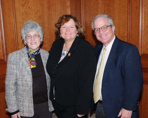 Kopp with Dudley-Eshbach and Deputy Treasurer for External Affairs Howard Freedlander.