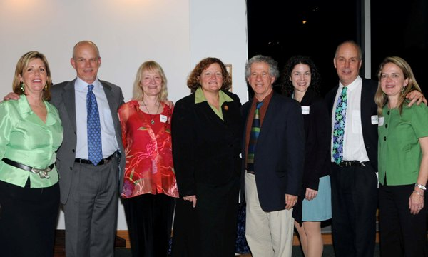 SU President with Green Earth Book Award-winning authors