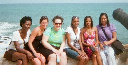 Mariama Saffa, Megan Saffa, Erika Dula, Tisheika Warner, Tiffany Polk, and Brittney Jones