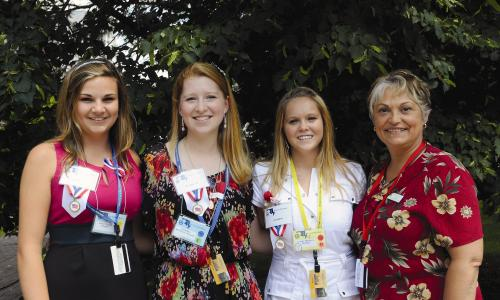 Emily Herbert, Deborah Mullen, Logan Brown, and Patricia Lach