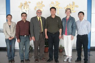 Dr. Khazeh pictured with Dongbei students
