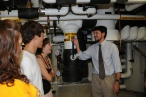 Students with geothermal pumps