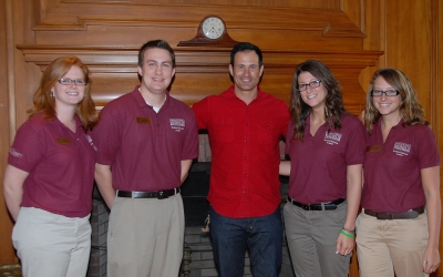 Sam Calagione (center) with Perdue School students