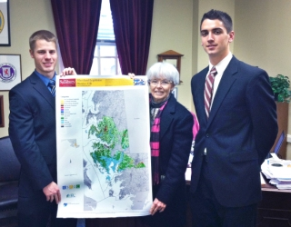 Christian Zumstein, Delegate Addie Eckhardt and John Lorman