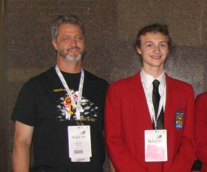 Miles and Brown (right) at SkillsUSA