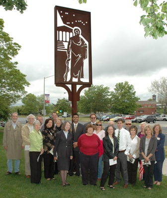 Sculpture dedication