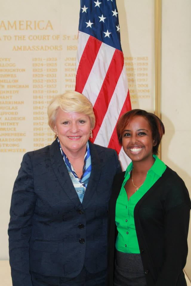 Barbara Stephenson (left) and Amina Aden