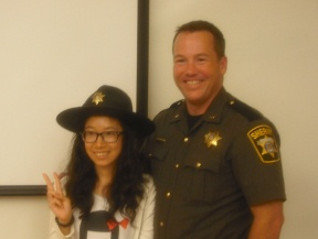 student and police officer