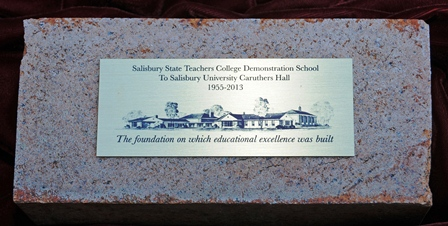 Caruthers Hall plaque