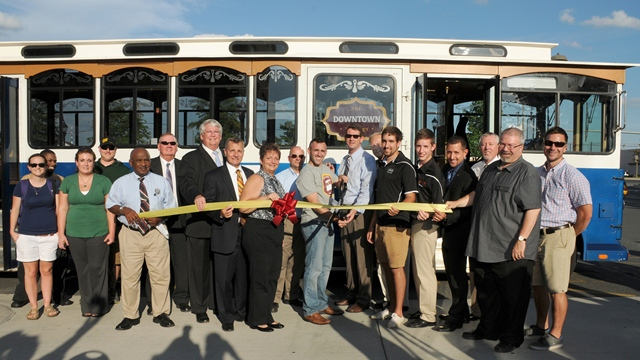 Trolley Ribbon Cutting