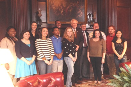 SU Students with Jim Mathias