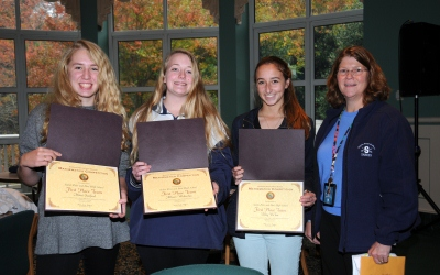 Mimi Sanford, Allison Wetherbee and Riley DeTar, with advisor Laurin Westerfield.�