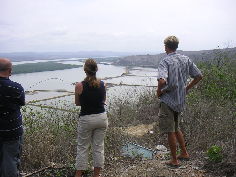 Hamilton (left) overlooking Chone Estuary