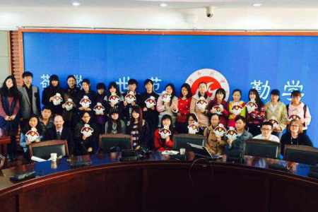 SU delegation with Anqing Normal University cohorts that will come to SU in fall 2015