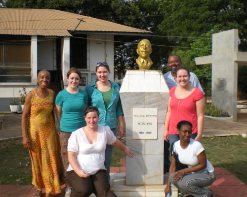 Dr. James King with students in Ghana