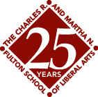Fulton School of Liberal Arts 25 Years logo
