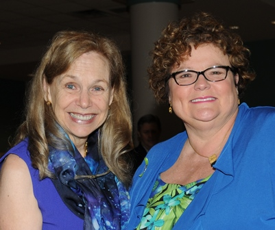 Mitzi Perdue with President Janet Dudley-Eshbach