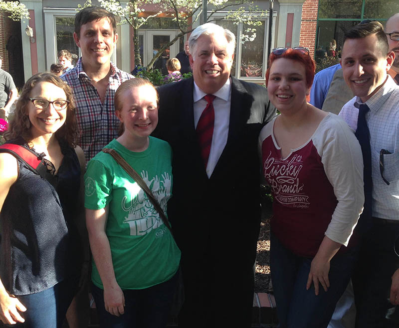 Governor Hogan with SU Community Members