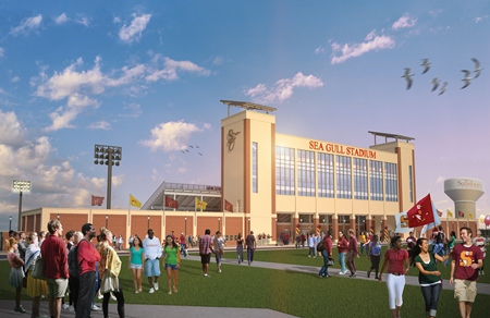 Sea Gull Stadium rendering