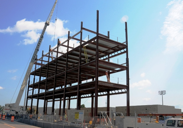 Sea Gull Stadium topping out