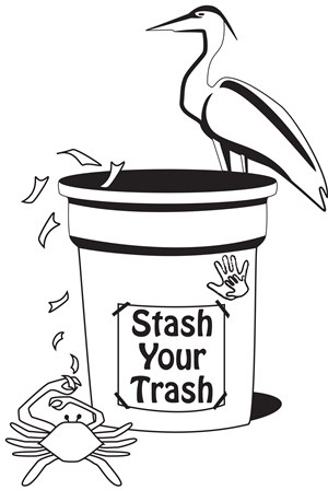 Stash Your Trash graphic