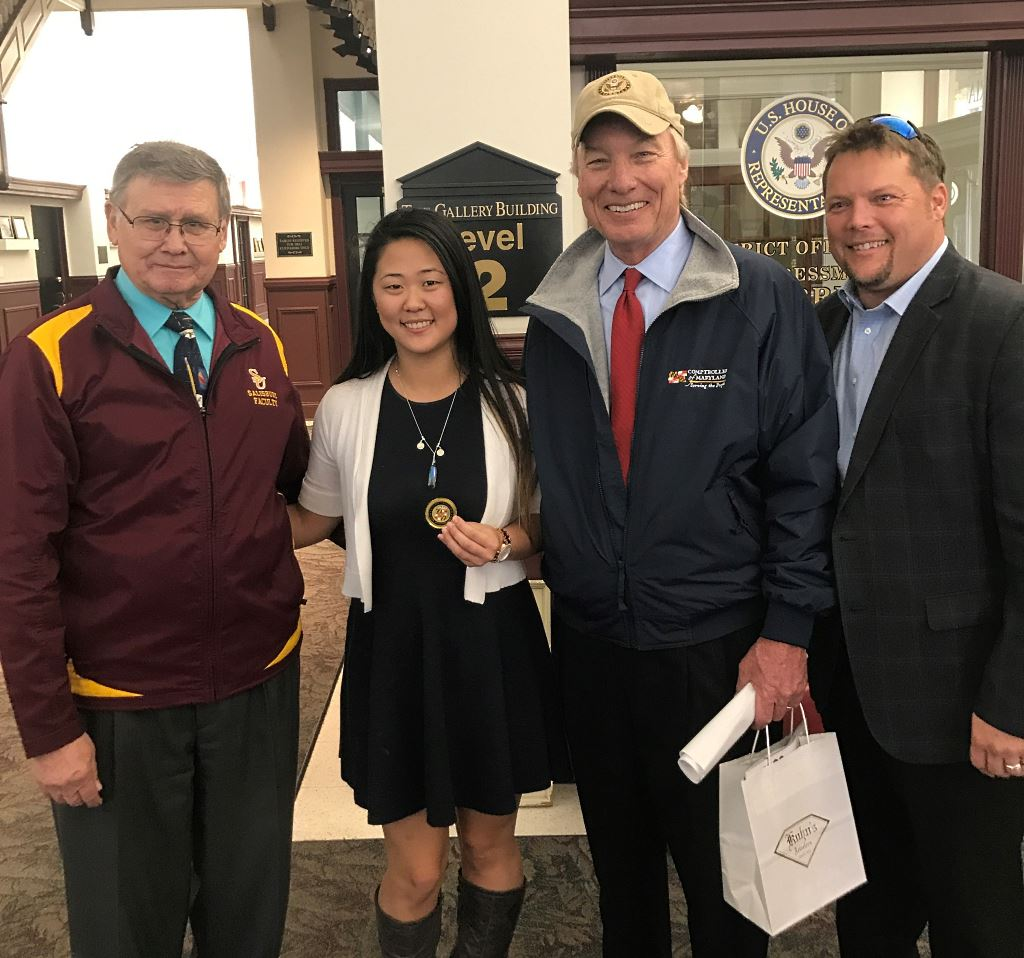 Peter Franchot, Kristy Trojan (Center), Robert Barber (left) and Carl Anderton Jr.