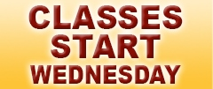 Classes Start Wednesday