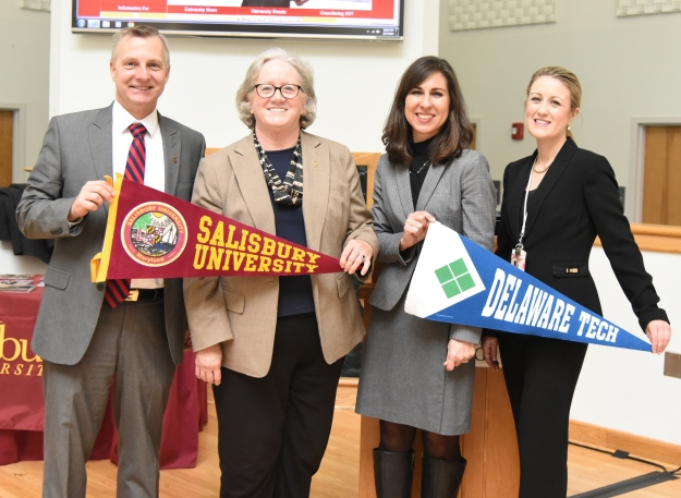 Representatives from Delaware Technical Community College and Salisbury University