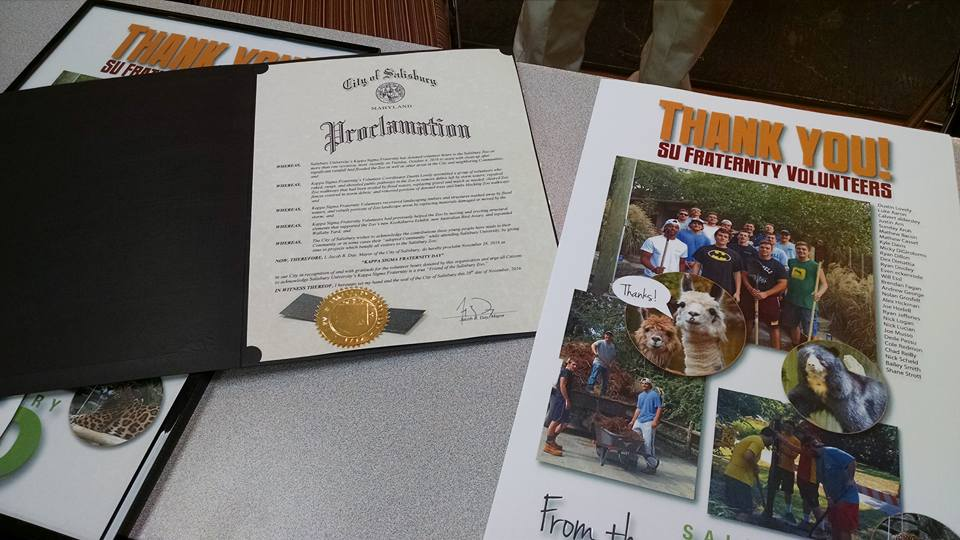 Kappa Sigma Fraternity Day proclamation and poster