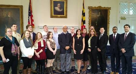 SU Students Meet Lt. Governor Boud Rutherford and Peter Franchot