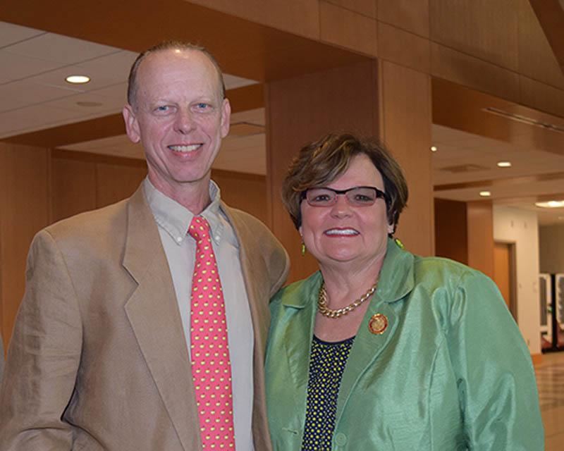 Dave Rommel & SU President Janet Dudley-Eshbach