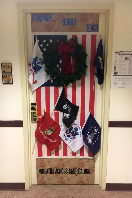 Wreaths Across America door