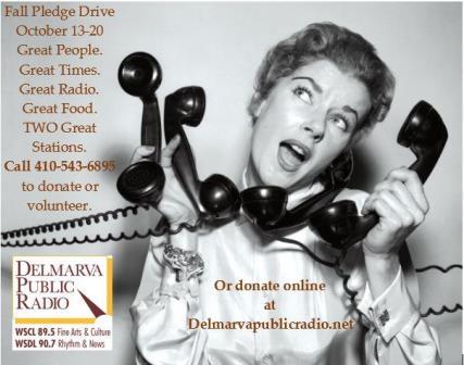 Delmarva Public Radio Fall Fund Drive logo