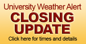 Update: Salisbury University will close at 12:30 p.m. Thursday, March 5, 2015