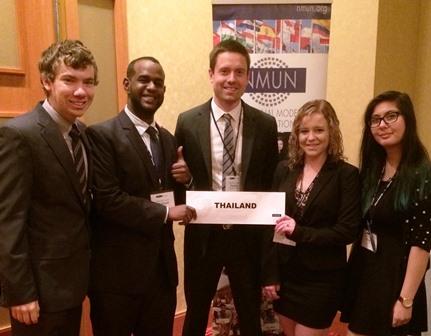 Members of Salisbury University's Model United Nations Club